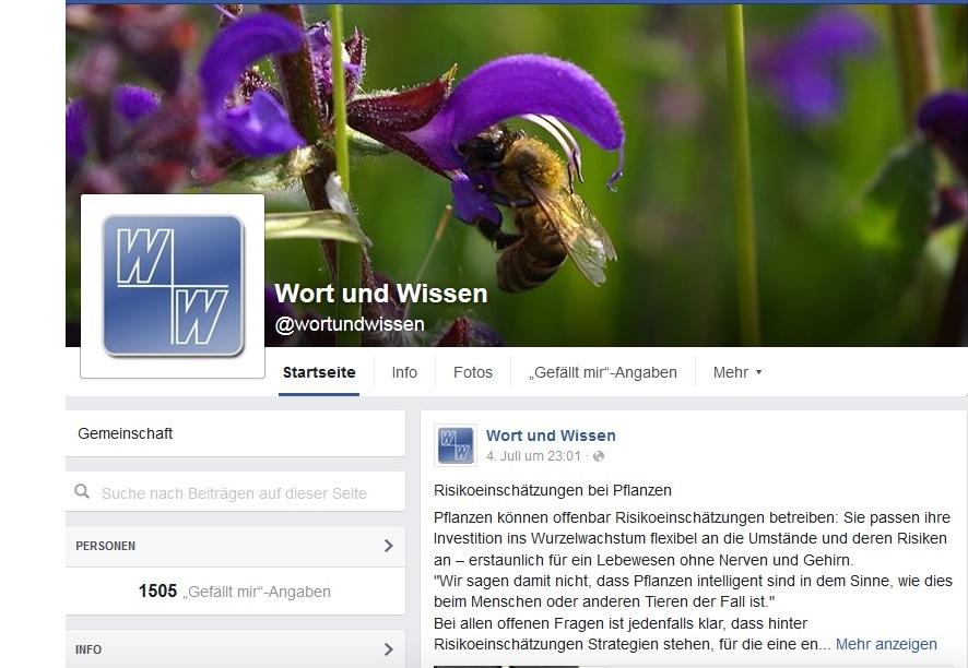 Facebook-Seite von W+W